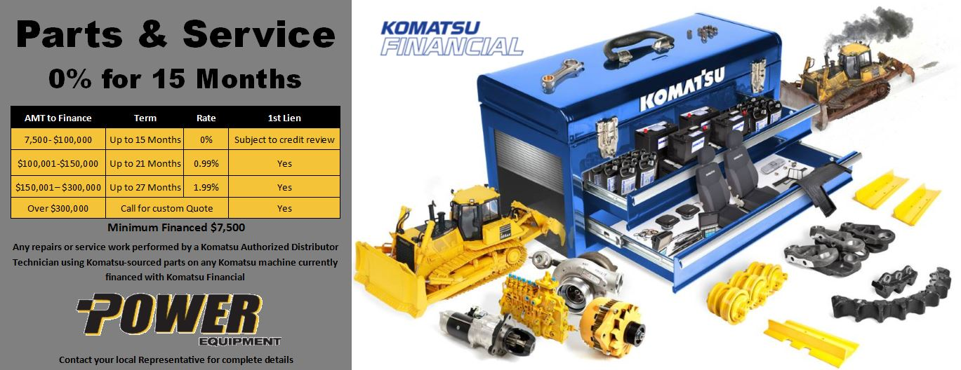 Product Support Specials from Power Equipment Company